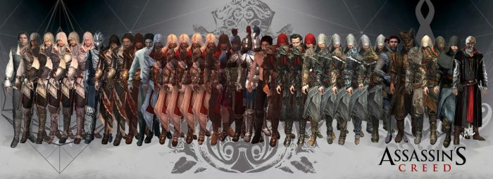Ezio One Life (All of Ezio's Armors and Outfits) by BinethPaul