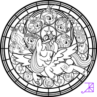 Twilicorn Coronation SG Coloring Page by Akili-Amethyst