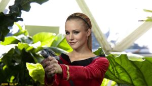 Kristen Bell in Retro Star Trek (updated) by gazomg
