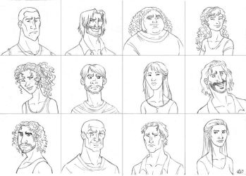 Lost's characters by roby-boh