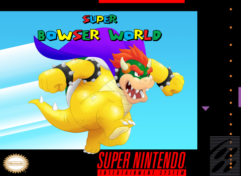 Super Bowser World Game Cover by RetroUniverseArt