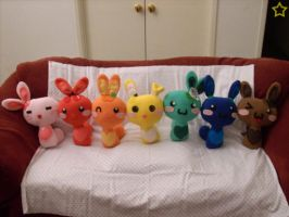 Rainbow Sweet Bunny Plushies by LiLMoon