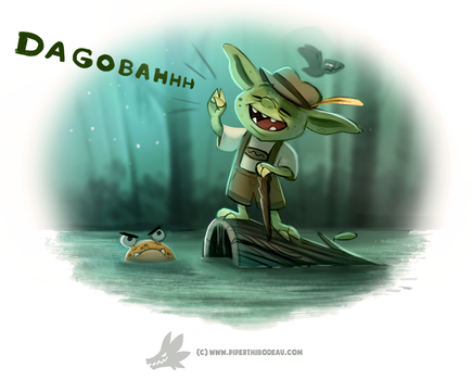Daily Paint #1261. Yodaling by Cryptid-Creations