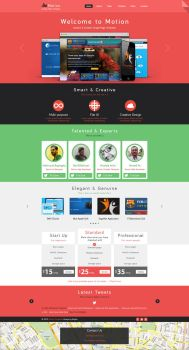 Motion single page PSD web template for free by begha