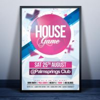 House Game Party Flyer by Dannygdesigns