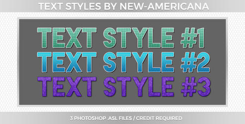 Text Styles #1 by new-americana