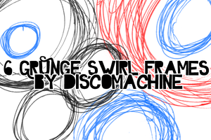 6 Grunge Swirl Frame Brushes by DiscoMachine