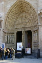 Entrance To Notre Dame by WaffleTopStock
