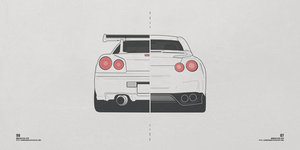Nissan R34 / R35 by AeroDesign94