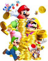 New Super Mario Bros.: Collecting Coins! by Legend-tony980