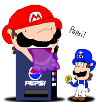 supermarioglitchy4: Mario Pepsi Machine by LuigiBroZ