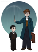 Newt Credence by maryallen138