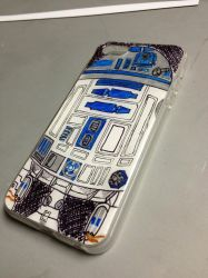 Starwars R2Dphone ink by aestheticreations