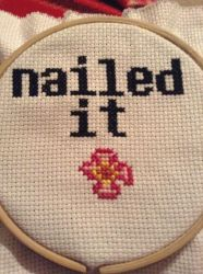 Nailed It Cross Stitch by QuillArtist