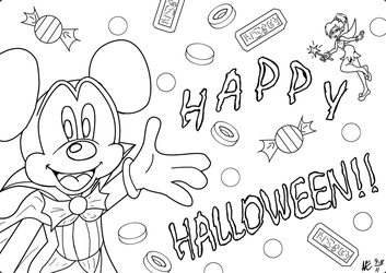 Mickeys Halloween card by 4dreamcastonly