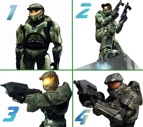 Master Chief  Through the Decade by Ganitine