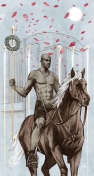 TAROT: 6 Of Wands by Santini