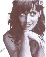 Katy Perry Biro Portrait by Craig-Stannard