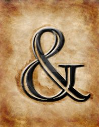 Aged Ampersand Print by matrix7