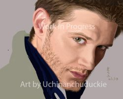 Jensen Ackles painting WIP by UchinanchuDuckie