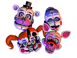 [C4d] Funtime Animatronics Head -remake- by The-Smileyy