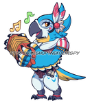 Kass Acrylic Stand/Sticker Design by NekoCrispy