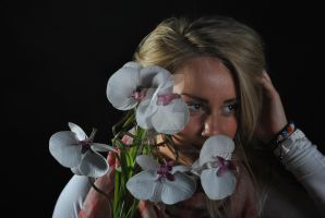 Backlighting floral image by GazzersPhotography