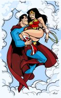 Superman and Wonder Woman by TimLevins