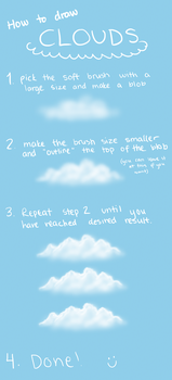 How to draw simple clouds by Wouv