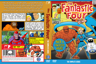 The Fantastic Four 1978 Cartoon DVD Cover by MisterBill82