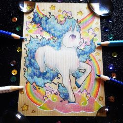+ Pkmn Rainbow + Shiny Rapidash + by AngeKrystaleen