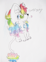 Chibi Rainbow Lion! by Kyrifian