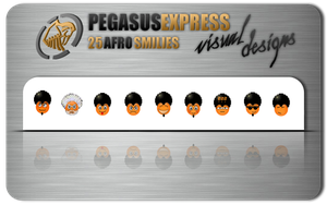 Afro Smilie Pack by Pegasus-Express
