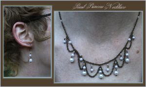 Princess Necklace - Pearls by aelthwyn