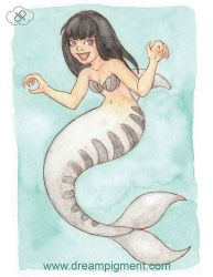 Tiger Mermaid - MerMonday July 30th 2018 by DreamPigment