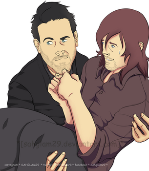 Jeffrey and Norman Reedus by SahGlam29