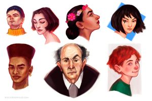 Daily sketches I by RocioRodriguez