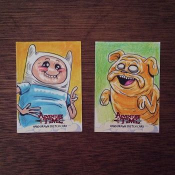 ADVENTURE TIME Artist Proof Sketch Cards (SOLD) by DeJarnette