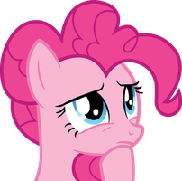 Thinking Pinkie Pie Vector by TheFrostSpark