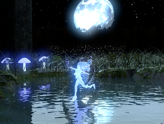 Dance with the fairy under the pale moonlight. by The--Grimreaper