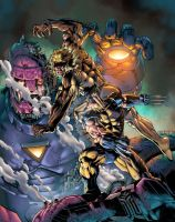 Wolvie vs Sabertooth colors by spidey0318