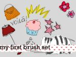 my first brush set by daniedesigns