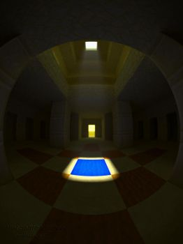 Desert Temple -- One Block to Treasure by MinecraftPhotography
