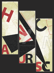 Typographic Triptych by Inspire-Creative