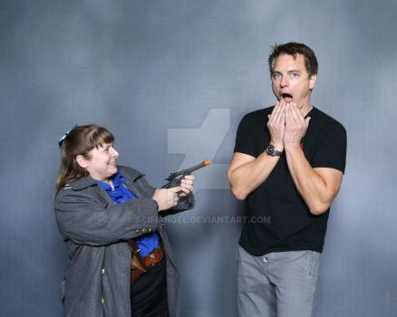Me and John Barrowman by Scifiangel