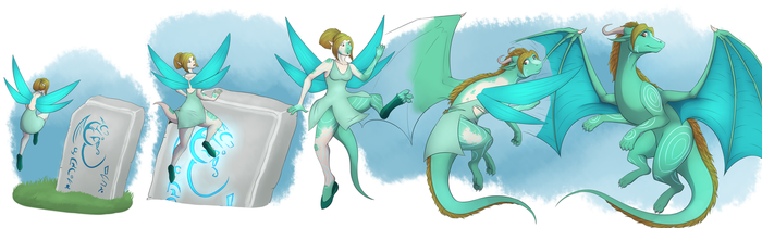 Fiary to Dragoness (commission) by Tomek1000