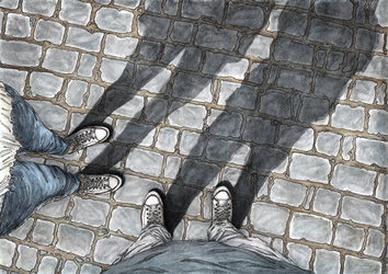 White Converse Leave No Marks Watercolor by AlexanderCrW