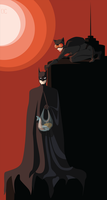 Batman and Catwoman - Red night by Lutessius