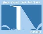 Late for class by isabellgross