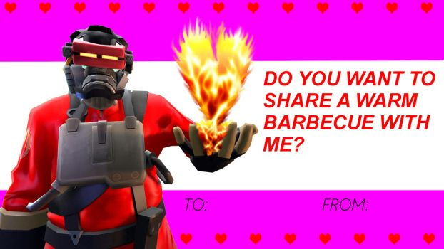 TF2 Freak: Burnro Valentines card by commanderjonas